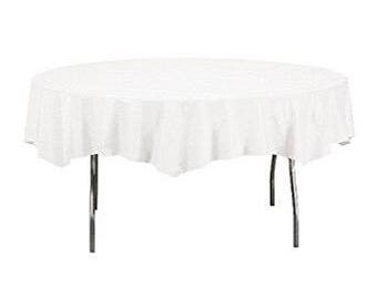 """82"""" White Tissue Round Table Cover, table cover, tableware, party supplies, wedding supplies, birthday party, baby shower"""
