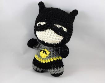 Batman, batman amigurumi, batman doll, batman plush, super hero doll, handmade batman, crochet batman, crochet batman doll
