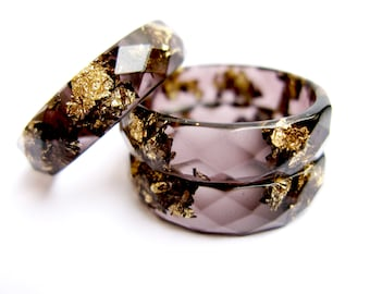 Black resin ring Etsy