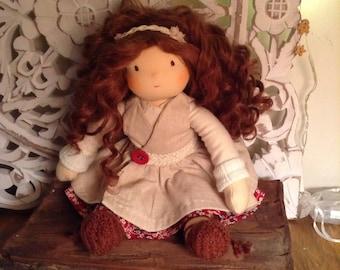 Waldorf Doll Brown hair 12,5 inches / 32 cm Amelia