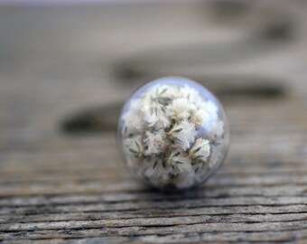 Gypsophila, Gypsophila Necklace, Real Flowers Necklace, White Flowers Necklace, Gypsophila Wedding, Botanical Jewelry, Spring Necklace