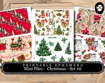 Christmas Clipart - Mini Folder Files - Christmas #6 - 3 Pg Instant Download - clipart christmas, clip art christmas, tsunamirose