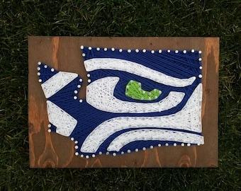 WA State Seahawk String Art