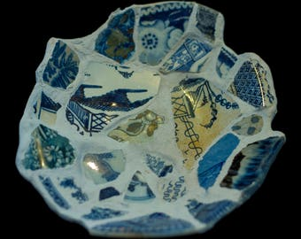 Ceramic Saucer with 360 Year Old Antique Fragments