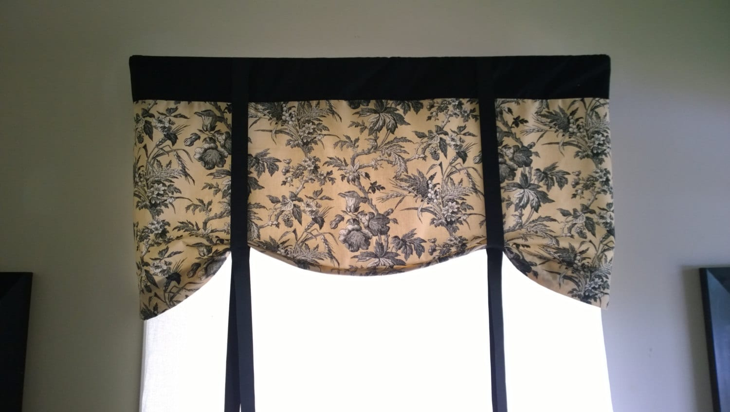Tie Up Window Valance Floral Curtain Elegant And