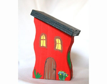 Wooden house Wood toy Wood house Christmas gift Toy house Wooden toy Room decor  Kids toy Home decor Kitchen decorDecoration house Eco toy