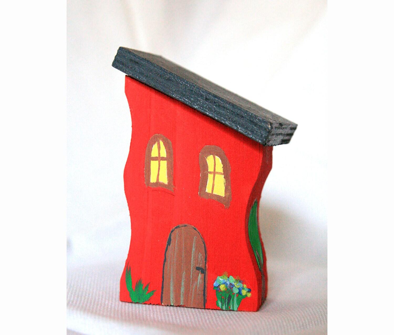 Holzhaus Holz Spielzeug Holz Haus Weihnachten Geschenk
