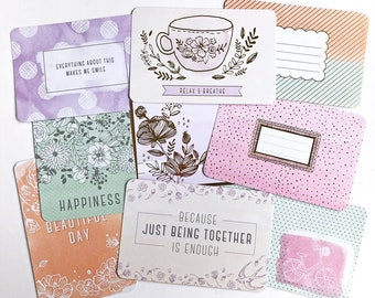 Partial Charming Core Kit 150+ Cards Becky Higgins Project Life 4x6 3x4 Journal Cards Title Cards Filler Card BH PL Pocket Scrapbooking #122