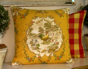 Pillow Cover in County Fair Fabric 16 x 16 inch