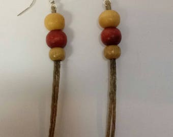"2 1/2"" Handcrafted Wooden Earrings"