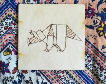 Oragami Style Triceratops Coaster