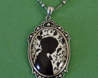JANE EYRE Necklace, pendant on chain - Silhouette Jewelry