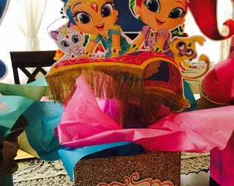 Shimmer and Shine Centerpieces -shimmy and Shine Centerpieces -shimmer and Shine decorations -girls birthday