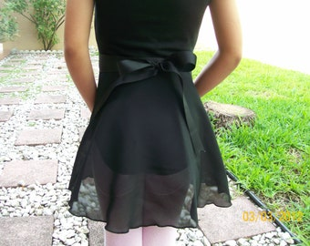 "Child Large/Teen Wrap Skirt 13"" or 14"", Many Colors, Ballet Skirt, Ballet Wrap Skirt, Dance Skirt, Ice Skating Skirt"