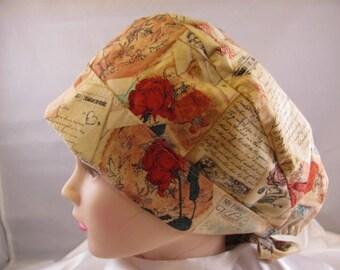 Women's Pixie Scrub Hat Love Letters