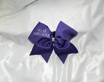 Valar Morghulis GOT Game of Thrones  Inspired in Deep Purple Cheer Bow Hair Bow