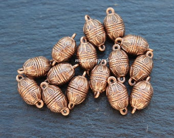 1   Clasp strong magnetic copper plated barrel magnet  Turkish jewellery findings supplies components  mdla105