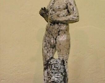 Original Raku-Fired Sculpture - Andy