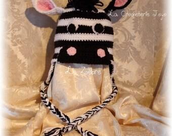 """Zebra"" hat (made to order)"