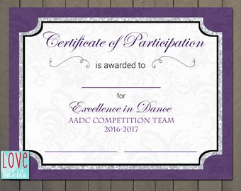 printable participation certificates