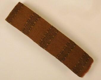 Rockabilly NECKTIE super SKINNY Handcrest Wool hand 1960s  53 in black and gray stripes