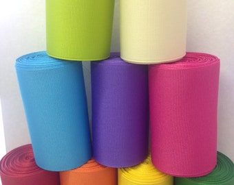"5 ROLLS - 3"" Grosgrain - (FIVE) - 10 Yard Rolls - Select 5 Colors! 3-inch Grosgrain - Great for Cheer Bows and Hair Bows"