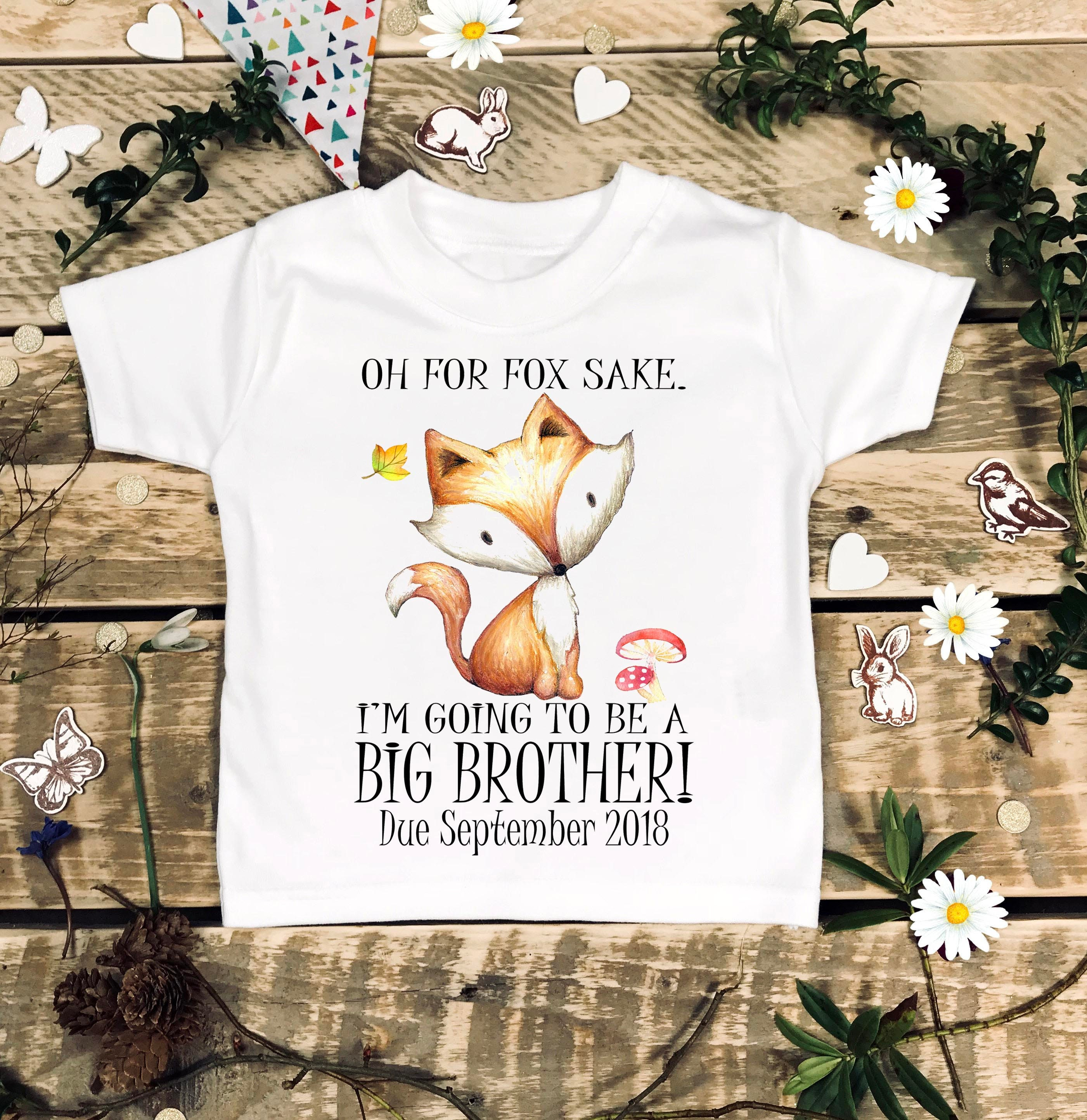 Oh For Fox Sake I m Going To Be a Big Brother Baby Clothes Sibling