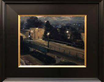 6x8 Overpass Nocturne - San Francisco - Plein Air Painting
