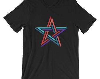 Impossible Star Geometry Unisex T-Shirt