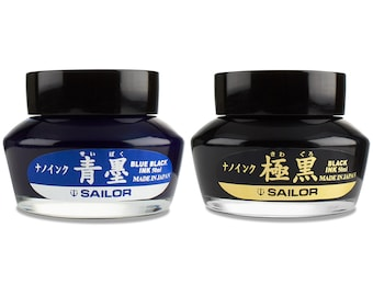 Sailor Kiwa Guro Fountain Pen Bottled Ink - Fountain Pen Refill, Pen Ink Refill, Black Pen Ink, Blue Pen Ink, Calligraphy Ink, Drawing Ink
