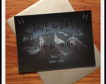 Corpse Bride Inspired Save the Dates-Grave Misunderstanding (Envelopes Included)