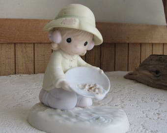 Precious Moments You're One In A Million to Me Figurine Sailboat 1995 Symbol Retired