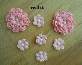 rose crochet flower/crocheted flowers