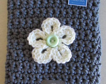 Crochet table covers with button fasten detail.  Size