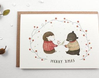 50% OFF - Christmas Card - Merry Xmas - Greeting Card