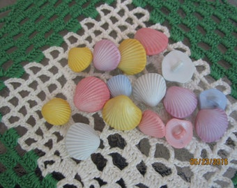 Oodles of small pastel colored shell buttons