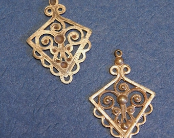 Vintage French Pendant Findings (2)
