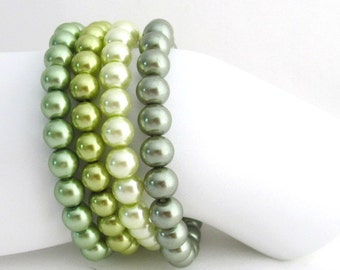 Green Bracelet Olive Green Stretchable Bracelet Pistachio Green Bracelet Free Shipping In USA