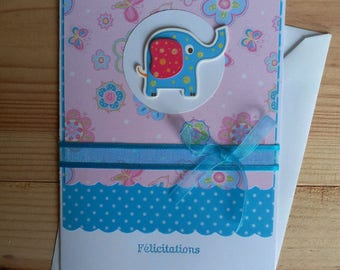 Newborn, boy or girl congratulations card