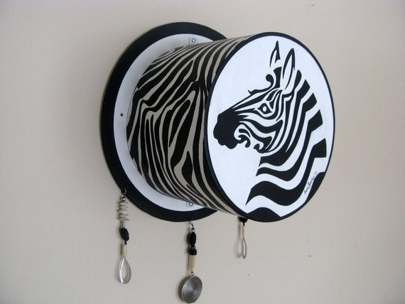 Zebra Art Painting Wall Sculpture, Black and White Wall Art Acrylic Painting, Unique 3D wall Art Decor Original Art Painting