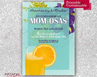Mother's Day Invitation - Mother's Day Brunch Invitation - Mimosas - Mom-osas - Printable & Personalized - A-00036