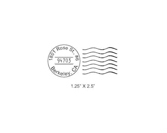 Personalized Postmark Return Address Rubber Stamp AD324