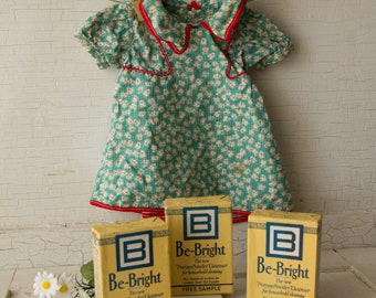 Vintage Be Bright Household Cleanser Soap SAMPLE box - Kitchen Bathroom Laundry Room - NOS - never opened