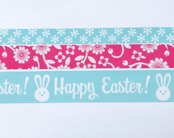 "Easter Washi Tape 24"" Sample Set Bobbins - Floral, Happy Easter, Bunnies - Add-on Washi Oops Option"