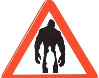 Hulk sticker. Hulk laptop sticker
