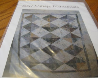 Quilt Pattern for Sew Many Diamonds by High Prairie Quilts