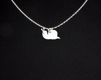 Snail Necklace - Snail Jewelry - Snail Gift