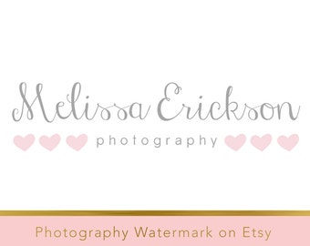 Instant download logo - pre-made Logo Design - Photography Watermark - Watermark Design - Heart Logo - Whimsical Logo - Photography Logo 171