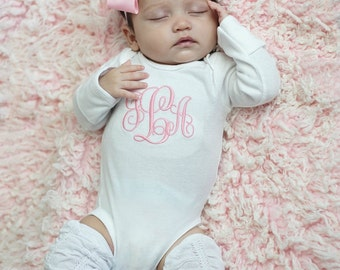 Baby Girl Coming Home Outfit Baby Girl Clothes Baby Girl Gift Monogrammed Baby Girl Outfit Newborn Baby Girl Outfit Baby Girl Leg Warmers