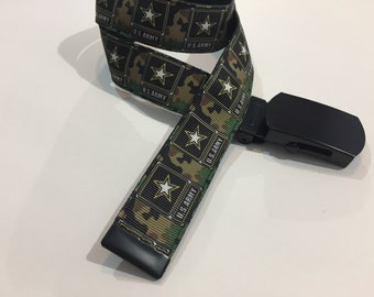 "Army Belt in All Sizes with a Military Buckle 1"" Wide"